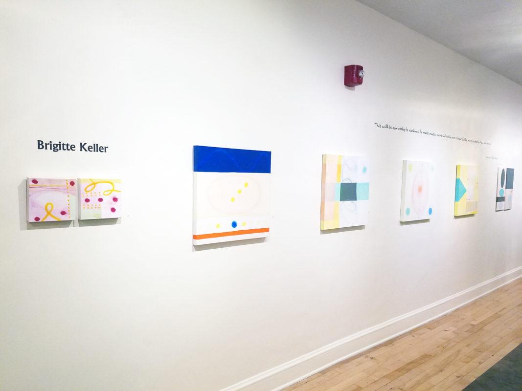 Brigitte Keller's work showing at the Spiegel Gallery